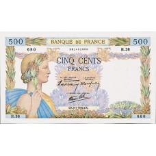 500 FRANCS - La Paix - 1940-1944 - Etat SUP