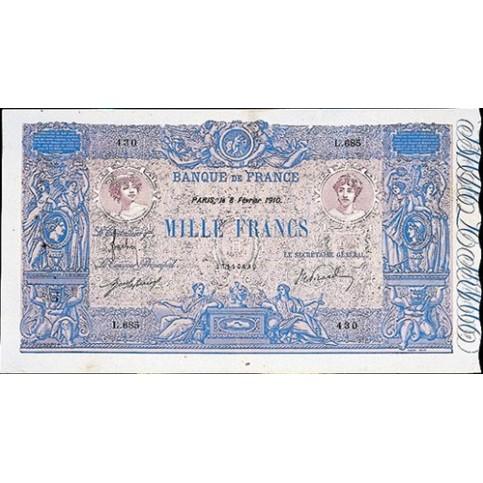 1000 FRANCS - Bleu et Rose - 1889-1926 - Etat TTB
