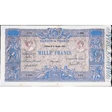 1000 FRANCS - Bleu et Rose - 1889-1926 - Etat SUP