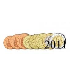 Espagne 2011 : serie de 1 cent a 2 euros