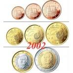 Espagne 2002 :  Série complète euro neuve