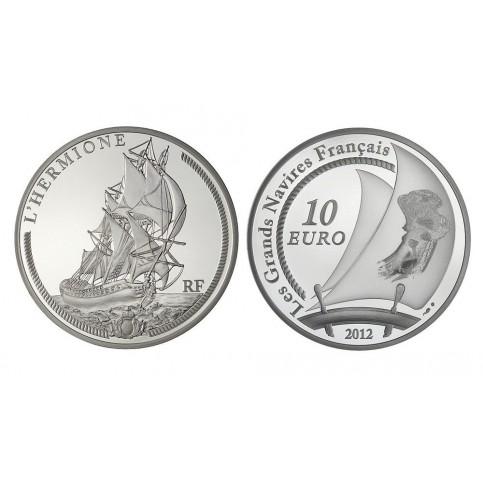 L'HERMIONE - 10 EUROS ARGENT