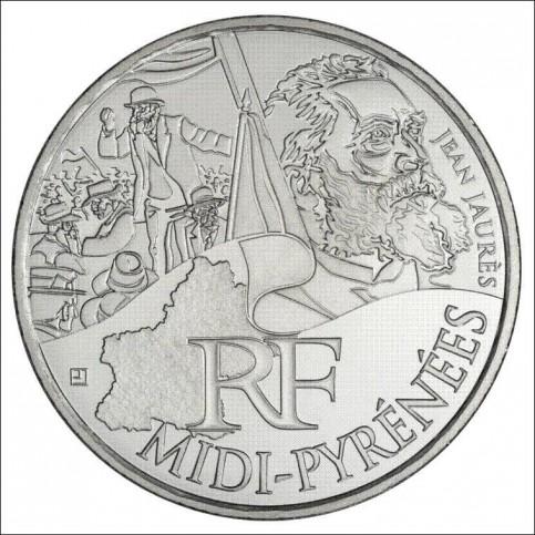 10 EUROS ARGENT  DES REGIONS 2012 - MIDI PYRENEES