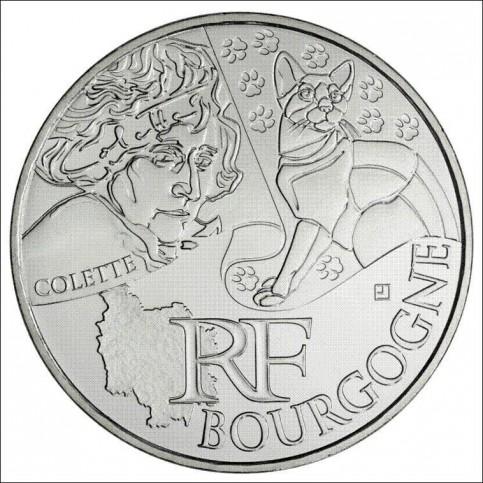 10 EUROS ARGENT  DES REGIONS 2012 - BOURGOGNE