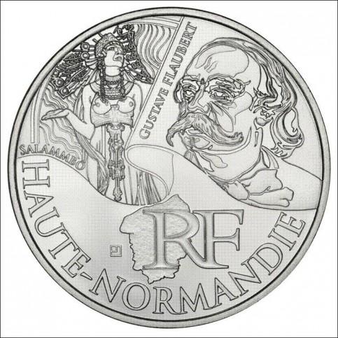 10 EUROS ARGENT  DES REGIONS 2012 - HAUTE NORMANDIE