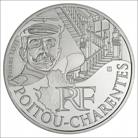 10 EUROS ARGENT  DES REGIONS 2012 - POITOU-CHARENTES