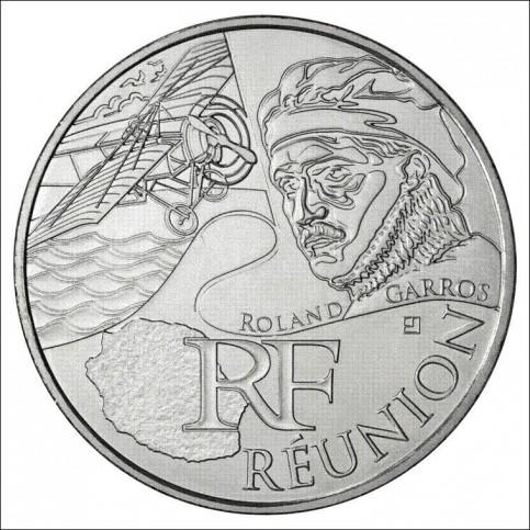 10 EUROS ARGENT  DES REGIONS 2012 - REUNION