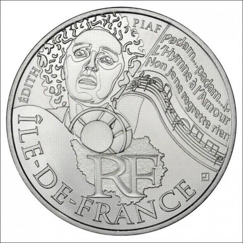 10 EUROS ARGENT  DES REGIONS 2012 - ILE DE FRANCE