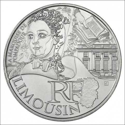 10 EUROS ARGENT  DES REGIONS 2012 - LIMOUSIN