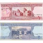 Afghanistan - Lot de 2 billets de 1 et 2 Afghanis