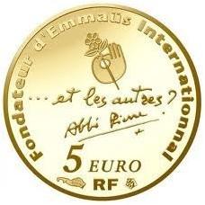 ABBE PIERRE 2012 - 5 EUROS OR