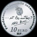 Abbé Pierre 2012 - 10 euro Argent