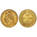 20 Francs Or Louis-Philippe tête laurée