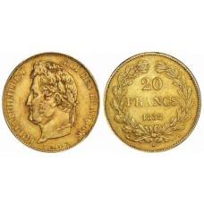 LOUIS PHILIPPE Tête Laurée - 1832/1848 - 20 FRANCS OR