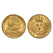 LOUIS XVIII Buste Habillé - 1814/1815 - 20 FRANCS OR