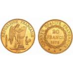 Génie de la Bastille -1848/1849 - 1871/1898  - 20 Francs Or