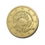 Allemagne 2012 - 2 euro commémorative 10 ans de l'euro dorée à l'or fin 24 carats