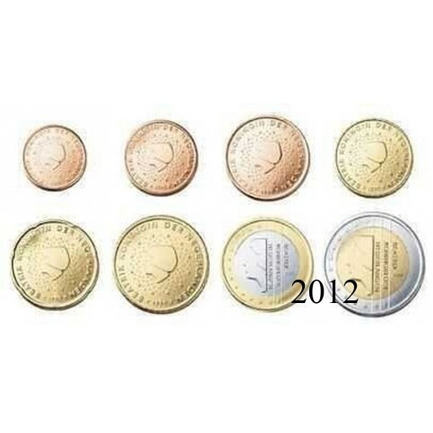 Pays-Bas 2012 : série de 1 cent à 2 euros