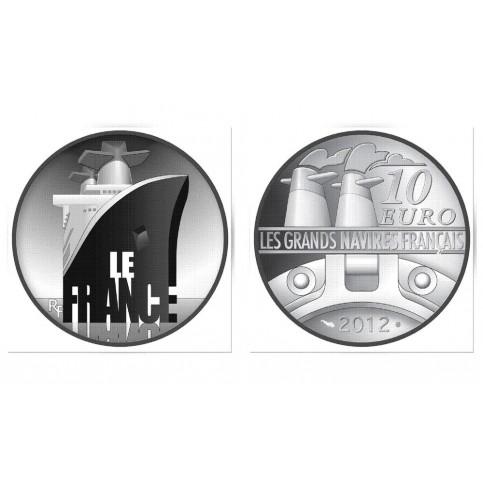GRANDS NAVIRES - FRANCE - 10 EUROS ARGENT