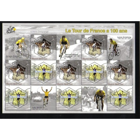 CYCLISME - 100 TIMBRES DIFFERENTS