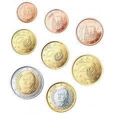 Espagne 2008 : serie de 1 cent a 2 euros
