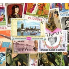 HISTOIRE D' ANGLETERRE - 100 TIMBRES DIFFERENTS