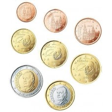 Espagne 2009 : serie de 1 cent a 2 euros