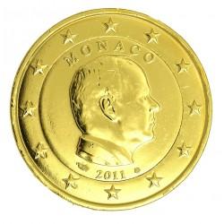 Monaco Albert II - 2 euros commémorative dorée à l'or fin 24 carats