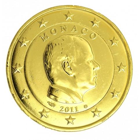 MONACO 2011 - 2 EUROS DOREE OR FIN 24 CARATS