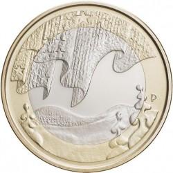 """Finlande 2012 - 5 euro Paysage d'hiver Série """"Nature du Nord"""""""