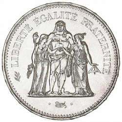 50 Francs Hercule en Argent