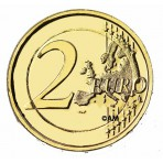 Malte 2012 - 2 euro commémorative dorée à l'or fin 24 carats