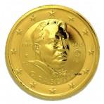 Italie 2012 - 2 euro commémorative dorée à l'or fin 24 carats
