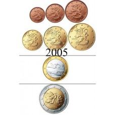 Finlande 2005 : serie de 1 cent a 2 euros