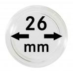 Lot de 100 capsules pour pièces de 2 euro