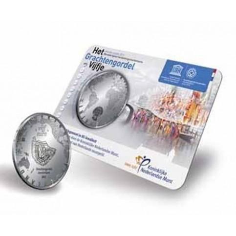 PAYS-BAS 2012 - COINCARD 5 EUROS 'Canaux d'Amsterdam '