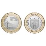 "Finlande 2012 - 5 euro Laponie Série ""Architecture"""