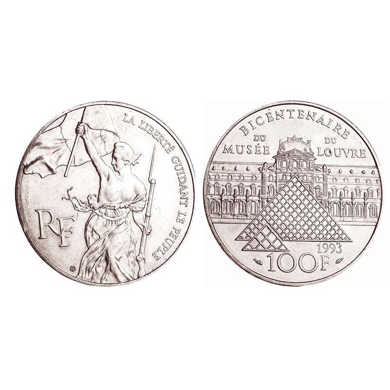 100 Francs Argent Louvre Liberte Arthur Maury