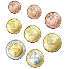 CHYPRE 2008 - SERIE EURO COMPLETE NEUVE