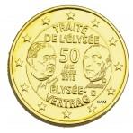 Allemagne 2013 Traité de l'Elysée - 2 euro commémorative dorée à l'or fin 24 carats