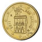Saint Marin - 2 euros dorée à l'or fin 24 carats