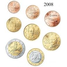 GRECE 2008 - SERIE EURO COMPLETE