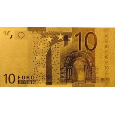REPRODUCTION BILLET 10 EUROS - DORE OR 24 CARATS