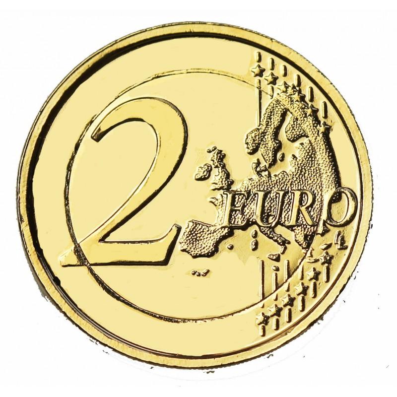 Allemagne 2013 Traite De L Elysee 2 Euro Commemorative Doree A L