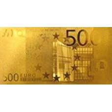 REPRODUCTION BILLET 500 EUROS - DORE OR 24 CARATS