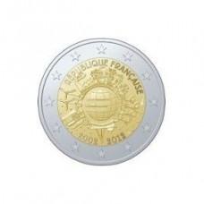 France 2012 - 2 euro commémorative 10 ans de l'euro
