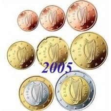 Irlande 2005 : serie de 1 cent a 2 euros
