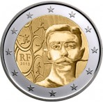 France 2013 - 2 euro commémorative Coubertin