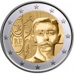 France 2013 - Rouleau de 2 euro commémorative Pierre de Coubertin