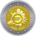 Slovénie 2012 -  2 euro commémorative 10 ans de l'euro